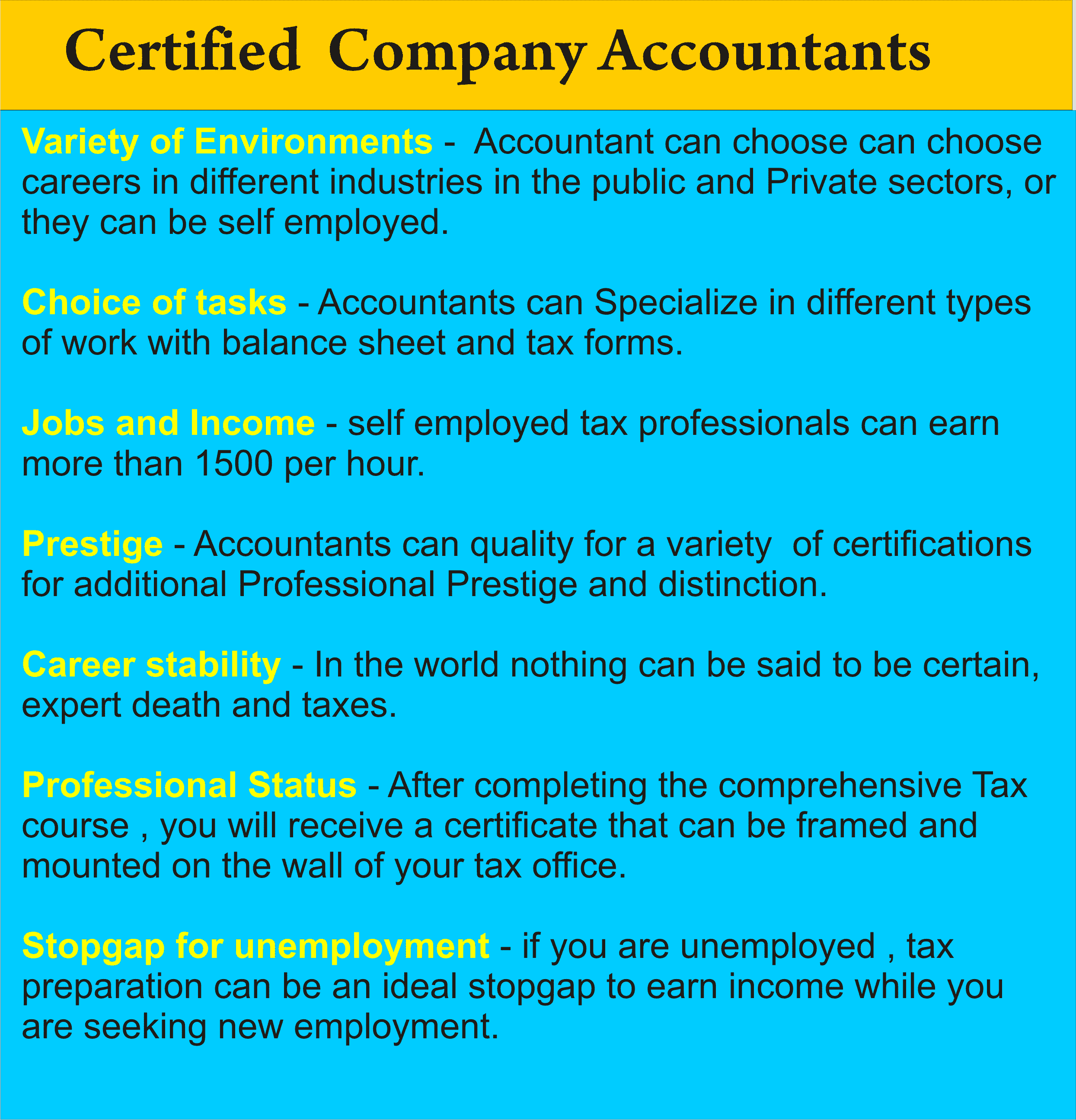 certified company account